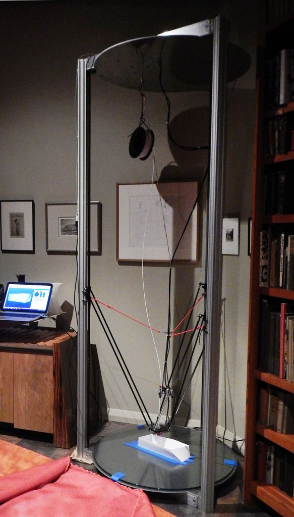 First 3D print on artist Kevin Caron's 8-foot-tall Cerberus 3D Gigante 3D printer