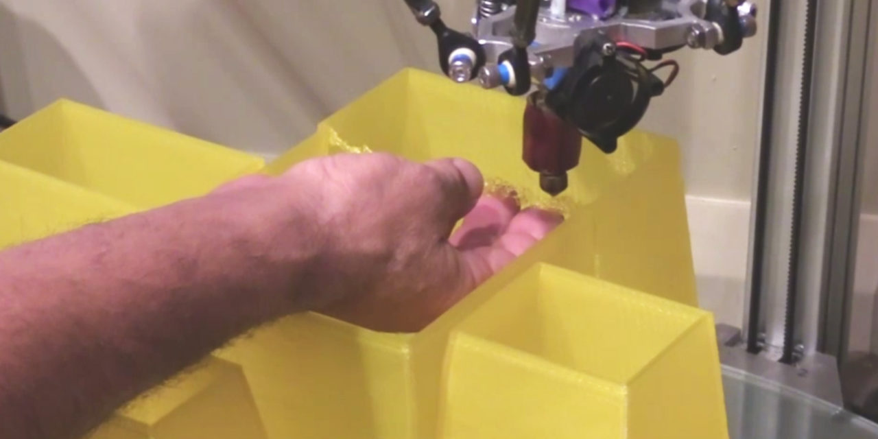 Building bridges: saving a 3D print using my hands