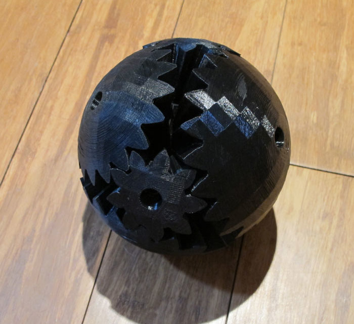 The Strange Case of the 3D printed Geared Ball
