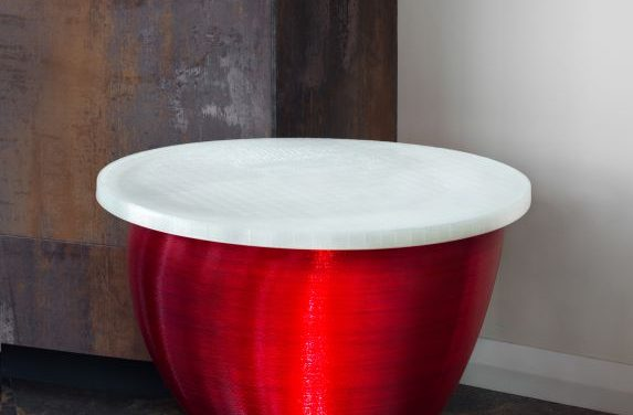 Red Moon Slice End Table