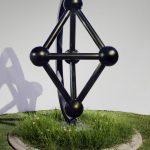 Gyre, a kinetic steel sculpture by Phoenix artist Kevin Caron.