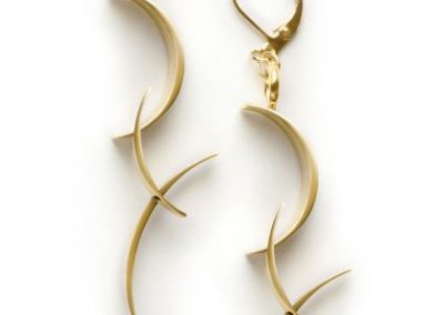 BackFlip Earrings, brass