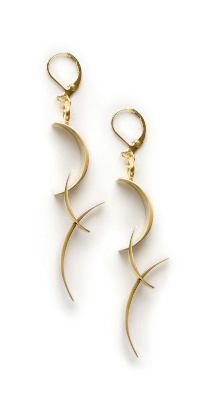 BackFlip Earrings, brass