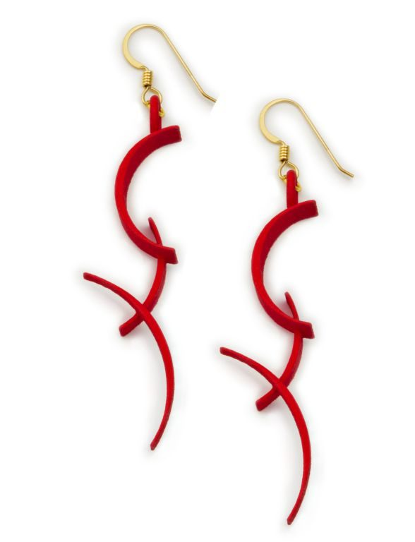 BackFlip Earrings, 3D printed resin