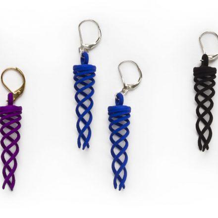 Campfire Earrings, resin