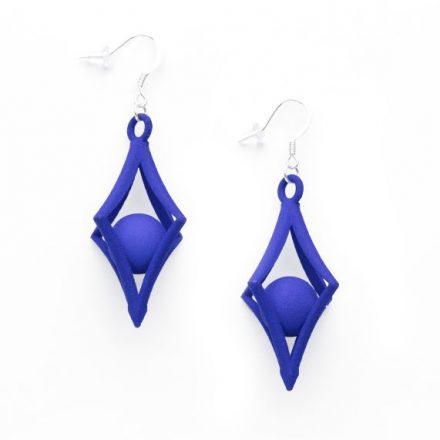Caught Earrings, 3D printed resin