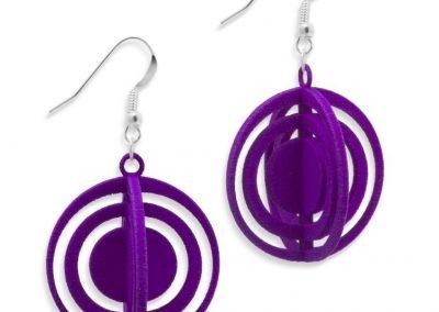 Orbits Earrings, 3D printed resin
