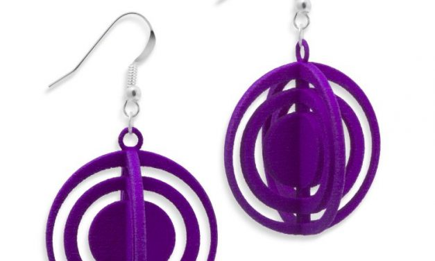 Orbits Earrings, 3D printed resin