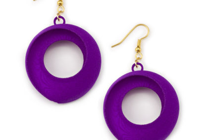 Torus Earrings, 3D printed resin