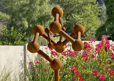Cosmos, a fine art free-standing sculpture by Phoenix artist Kevin Caron.
