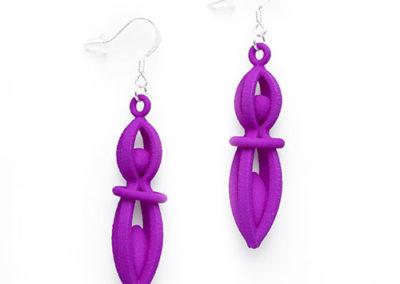 Fiesta Earrings, 3D printed resin