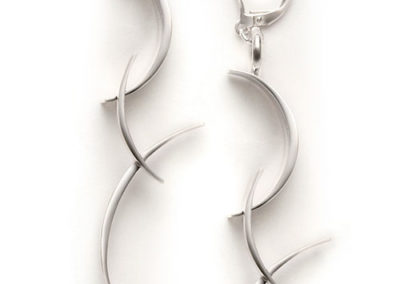 BackFlip Earrings, silver