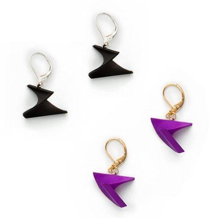Mobius Earrings, 3D printed resin