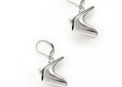 Mobius Earrings, silver