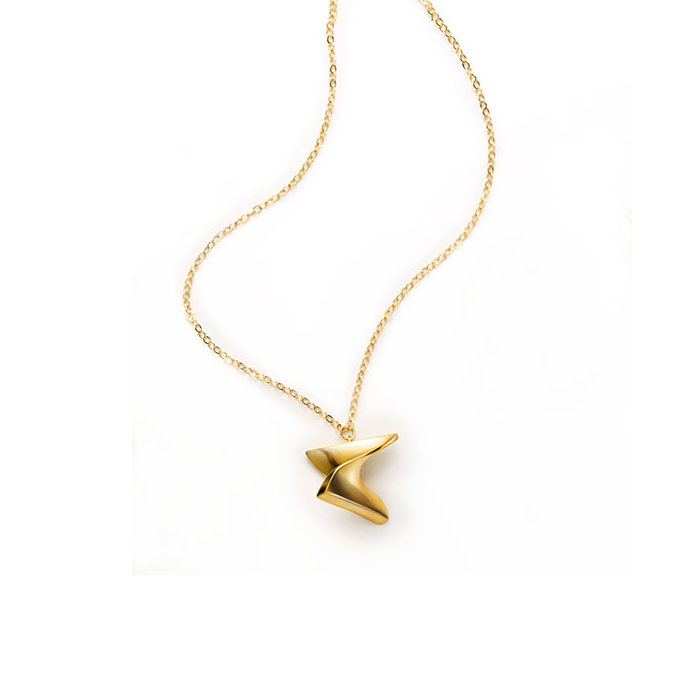 Mobius Necklace, brass
