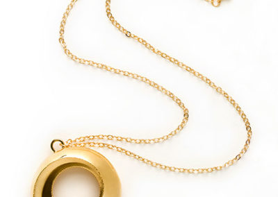 Torus Necklace, brass