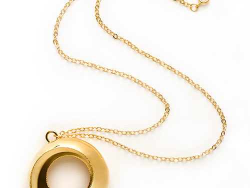 Torus Necklace, brass