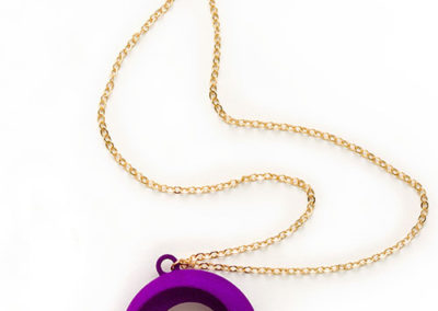 Torus Necklace, 3D printed resin