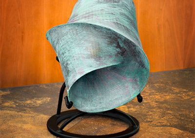 Oculum, a patinated resin contemporary art sculpture by Kevin Caron.