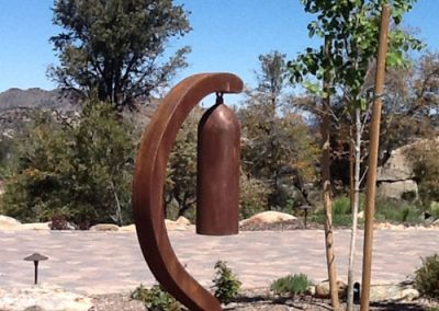 Riddle Me This, a steel sound sculpture by Phoenix artist Kevin Caron.
