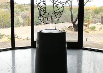 Rush, a contemporary steel sculpture by Phoenix artist Kevin Caron.