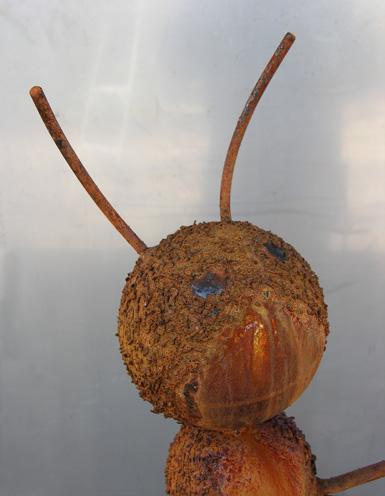 Sasquatch, a steel caterpillar by Phoenix artist Kevin Caron.
