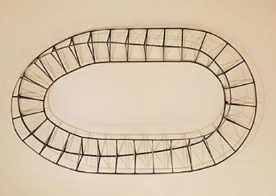 Shade and Shadow, a contemporary steel wall sculpture by Kevin Caron.