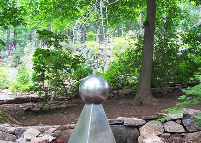 Transference, a contemporary steel sculpture by Phoenix artist Kevin Caron.