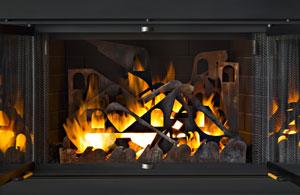 Venezia, a contemporary fireplace sculpture by Kevin Caron