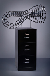The Only Way Out, a contemporary fine art sculpture by Kevin Caron
