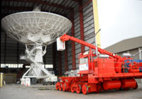 A dish and a mover at the Very Large Array