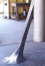 BobbyPin, a bell by Kevin Caron, in process