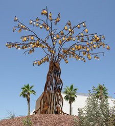 Hands On, a public art commission for the city of Avondale, Arizona, by Kevin Caron