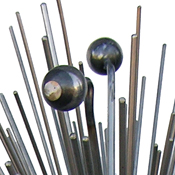 Detail of Spike, a garden sculpture by Kevin Caron