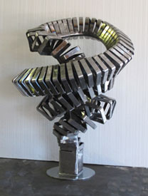 Dorothy's Nightmare before its finish, a contemporary sculpture by Kevin Caron
