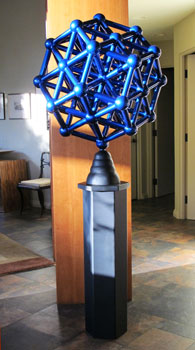 Charged Particle, a contemporary sculpture by Phoenix artist Kevin Caron