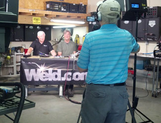Wyatt Swaim & Kevin Caron filming videos for Weld.com