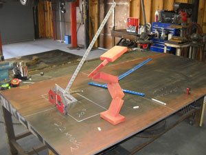 The Runner, a contemporary art sculpture by Kevin Caron in progress
