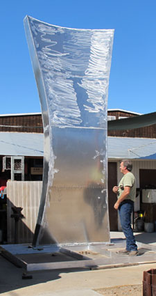 The Seed, a site-specific public art sculpture by Kevin Caron in process