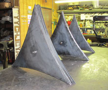 Wherever You Go, There You Are, a free-standing fine art sculpture by Kevin Caron in process