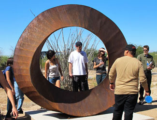 Wherever You Go, There You Are, a contemporary sculpture by artist Kevin Caron