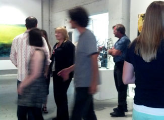 At a Thermal PHX reception at MonOrchid gallery.