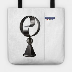 Tote with Roundabout sculpture - Kevin Caron