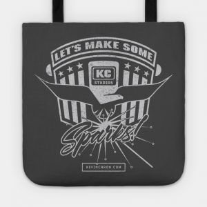 Tote with Let's make some sparks signature statement - Kevin Caron