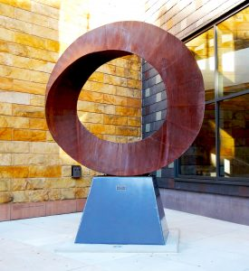 Wherever You Go, There You Are sculpture by Kevin Caron located at Whitaker Center for Science and the Arts