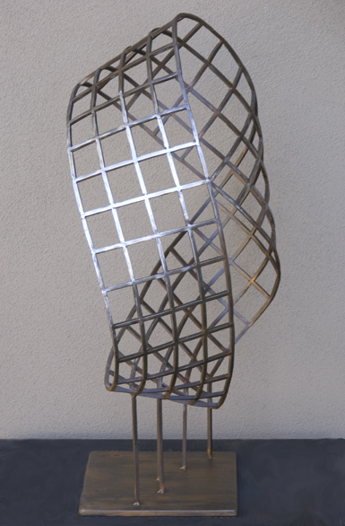 After Escher, a steel fine art sculpture by Phoenix artist Kevin Caron.