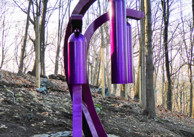 Violeta Canto, a steel sound sculpture by Phoenix artist Kevin Caron.