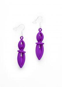 Fiesta 3D printed earrings - Kevin Caron