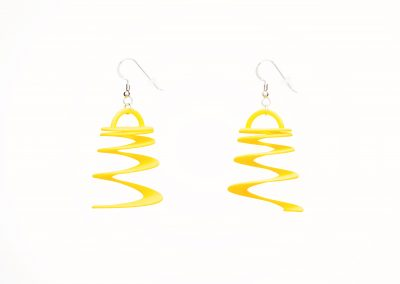 Dust Devil Earrings, 3D Printed Resin