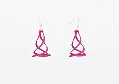 Flamenco Earrings, 3D Printed Resin